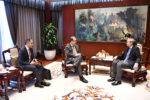 Chairman Bernard Dewit meets with Ambassador Zhang Ming and ETC CEO Eduardo Santander